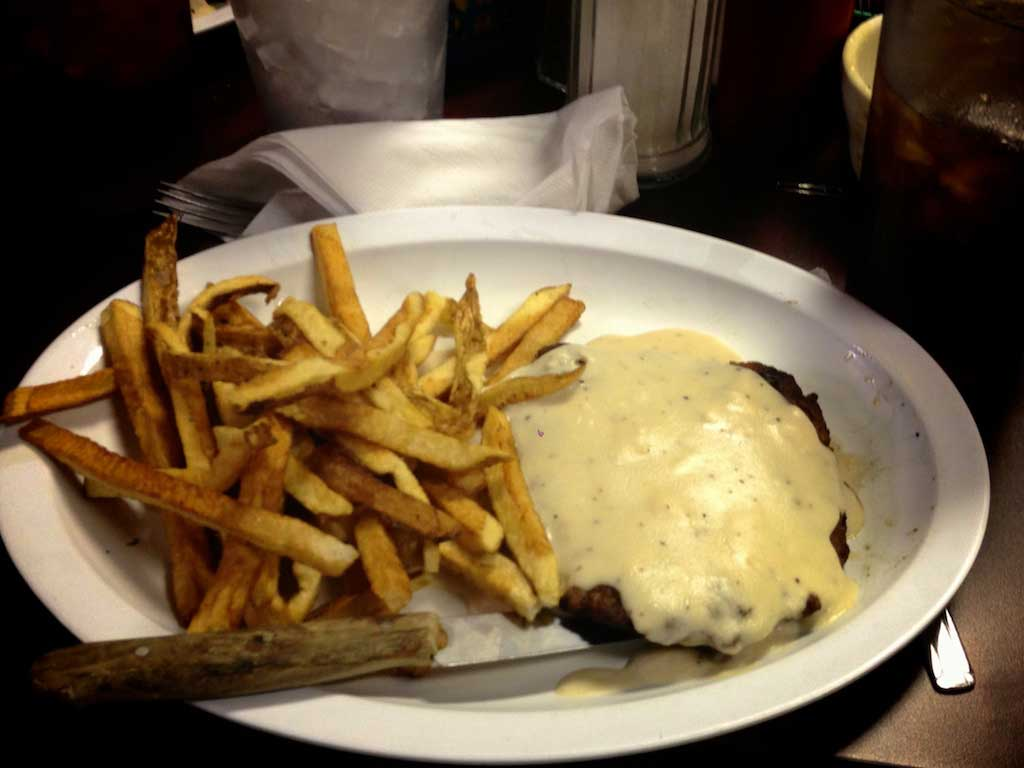Youngblood's Texas Home Cookin' – Stockyard Cafe – World Famous Chicken Fried Steak With Gravy and Hand Cut French Fries